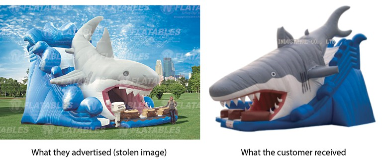 Chinese inflatable shark