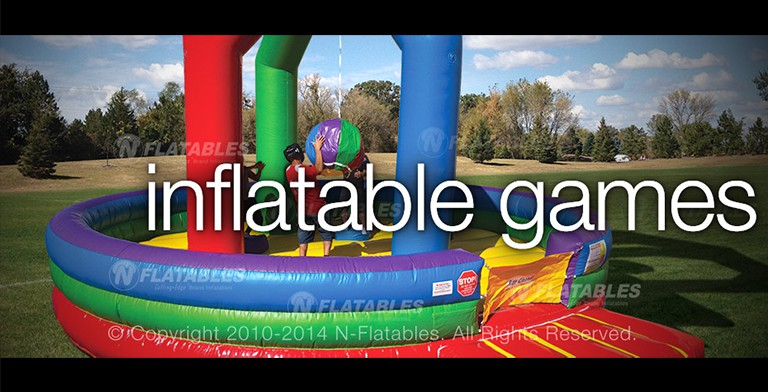 Commercial Inflatable Games, Rock Walls, Joust, Boxing, Dodgeball for Sale