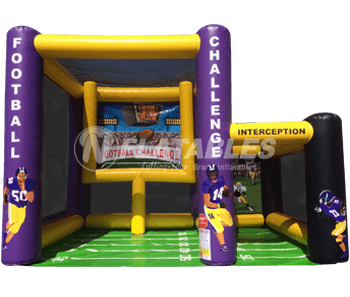 Custom Football Challenge Inflatable