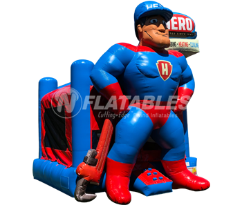 Inflatable Superhero Mascot Bouncer