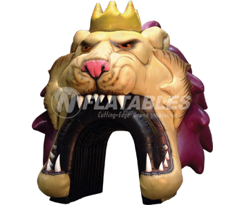 Inflatable Lion Sports Tunnel