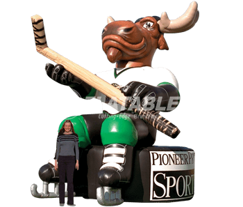 Inflatable Moose Hockey Mascot