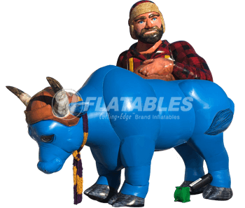 Inflatable Paul Bunyan & Babe the Blue Ox