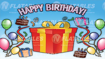 Happy Birthday Removable Art Panel
