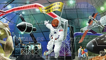 Space Camp™ Removable Art Panel
