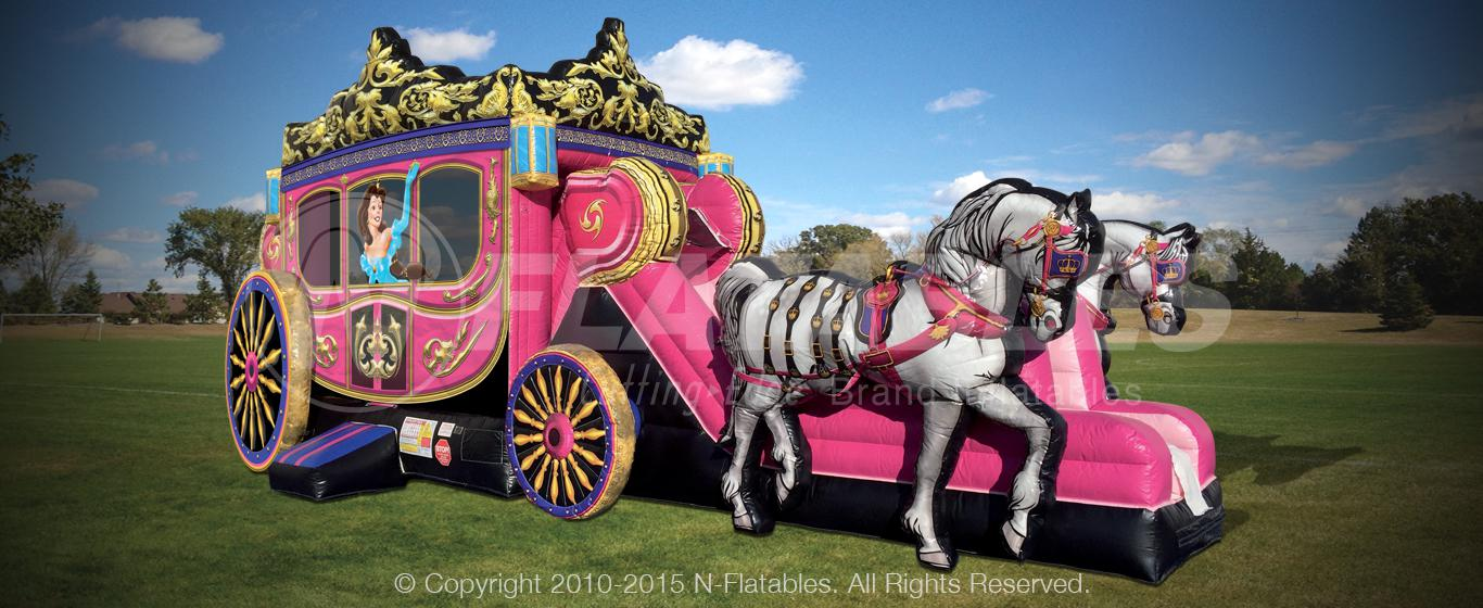 commercial-inflatable-princess-carriage-party-for-sale