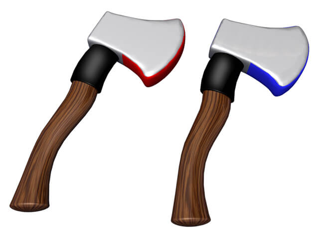 Inflatable Axe Throw Foam Axes Velcro