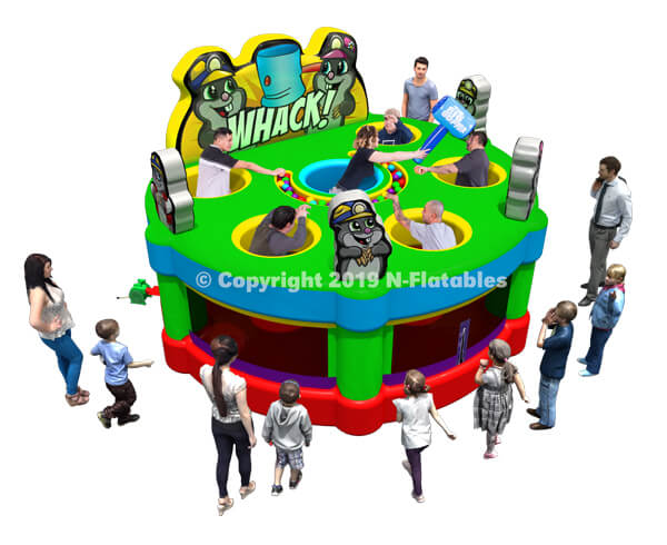 Inflatable Whack A Mole Game with Balls