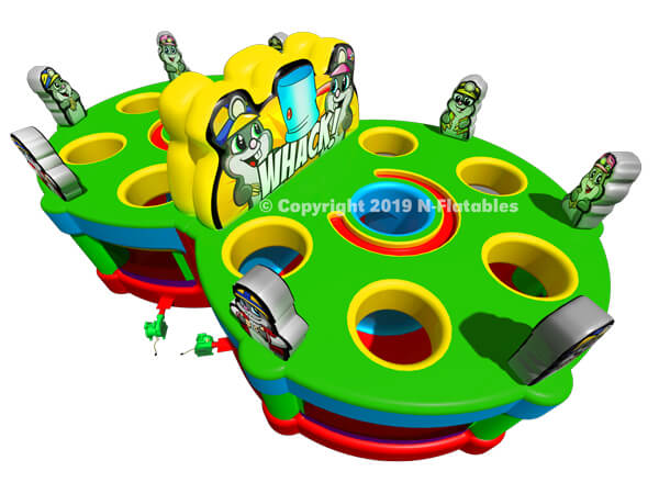 Double Inflatable Whack a Mole Game