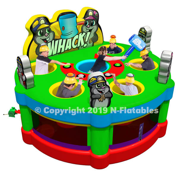 Inflatable Whack a Mole Game with IPS System